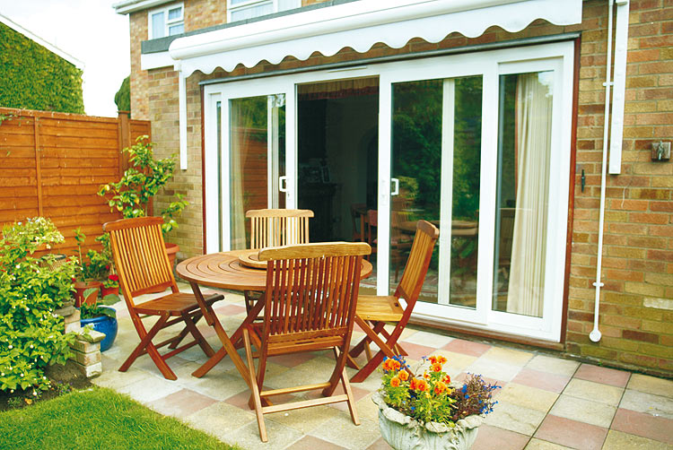Upvc high security patio door styles and options various for Patio doors with side windows