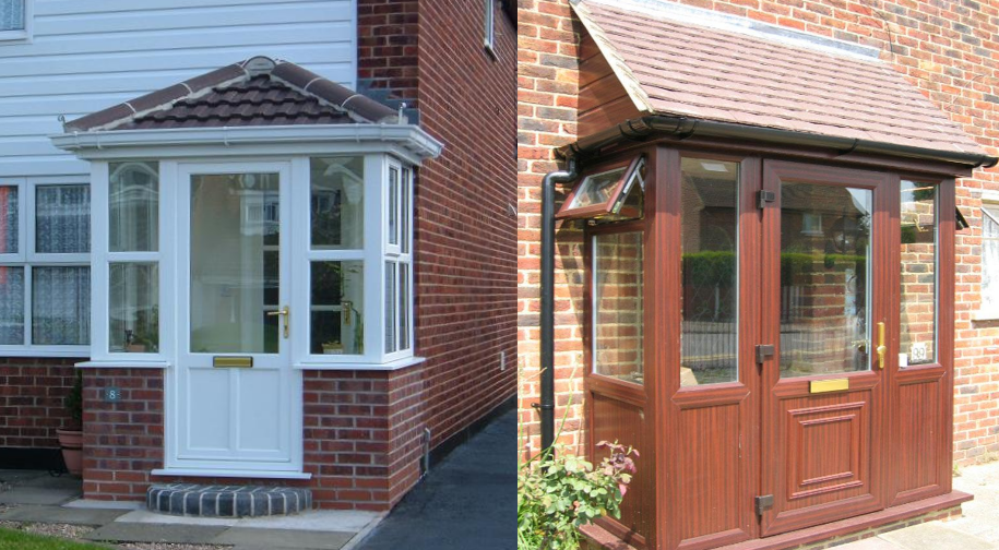 Energy efficient porches manufactured installed all over for Front porch extension ideas