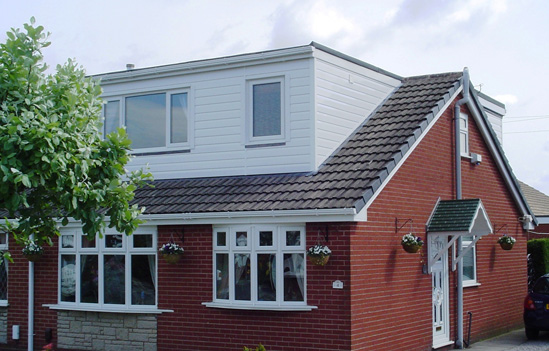 White Upvc Roofline