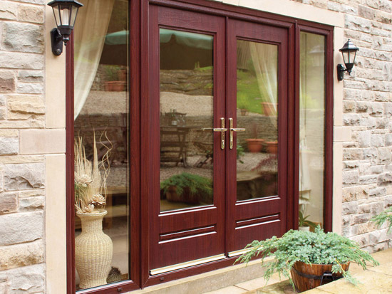 Upvc french doors many styles and options browse here for Brown upvc patio doors