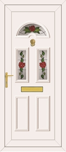 Carter 3 Country Roses - UPVC Door