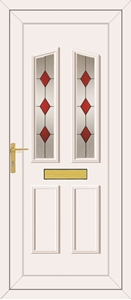Clinton Red Diamond - UPVC Doors