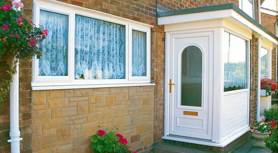 Energy efficient porches manufactured installed all over for Upvc doors scotland