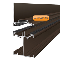 Picture of Alukap-SS Low Profile Wall Bar 4.8m Brown