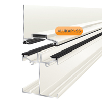 Picture of Alukap-SS Low Profile Wall Bar 6.0m White