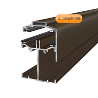 Picture of Alukap-SS Low Profile Gable Bar 4.8m Brown