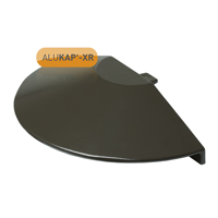 Picture of Alukap-XR Roof Lantern Radius End Cap Brown