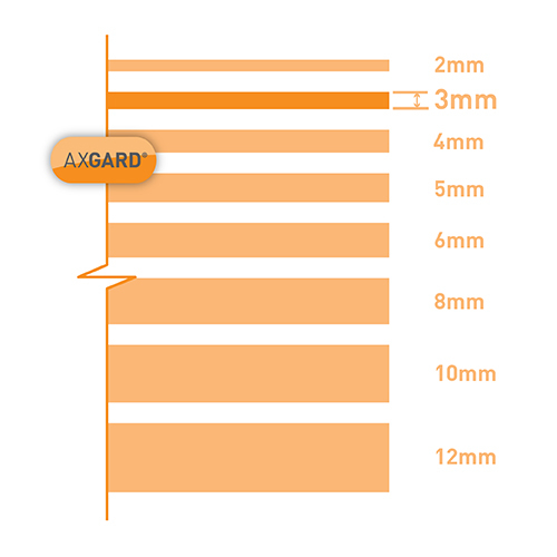 Picture of Axgard Patternd 3mm Polycarb 1000 x 3050mm