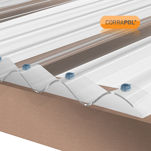 Picture of Corrapol Clear Polycarb Corrugated Sheet 840 X 3050