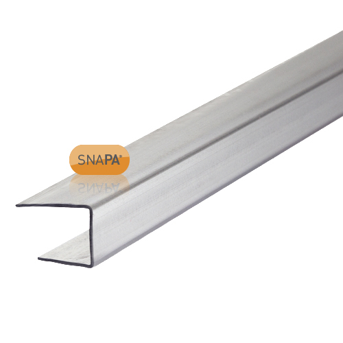 Picture of Snapa 10mm Clear Polycarbonate C Section 2m