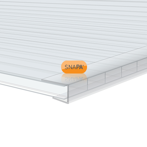 Picture of Snapa 10mm Clear Polycarbonate C Section 3m