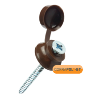 Picture of Corrapol-BT Brown 60mm Screw Cap Fixings (Pack Of 50) - NEW