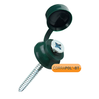 Picture of Corrapol-BT Green 60mm Screw Cap Fixings (Pack Of 10) - NEW