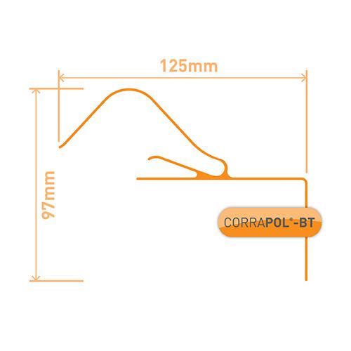 Picture of Corrapol-BT Rigid Rock n Lock Side Flashing 3m Black