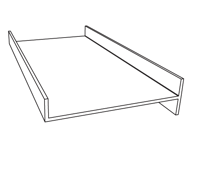 Gable Infill Wedge End Cap