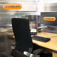 Picture of DeskIsolate 3-Sided Open Back Clear 2200H x 1400W x 1000D mm