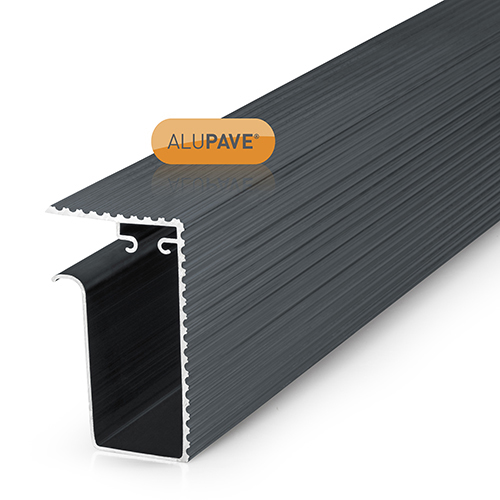 Picture of Alupave Fireproof Flat Roof & Decking Side Gutter 6m Grey