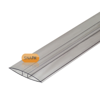 Picture of Bulk 50 Lengths Snapa 10mm Clear Polycarbonate H Section 7m